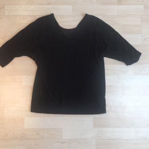 Anthropologie black 3/4 sleeve top.